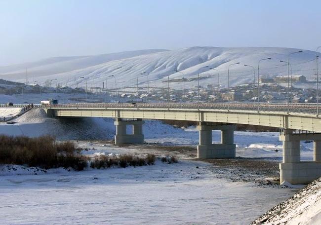 2010.12.24 Мост через реку Онон (Ононск) - 390м