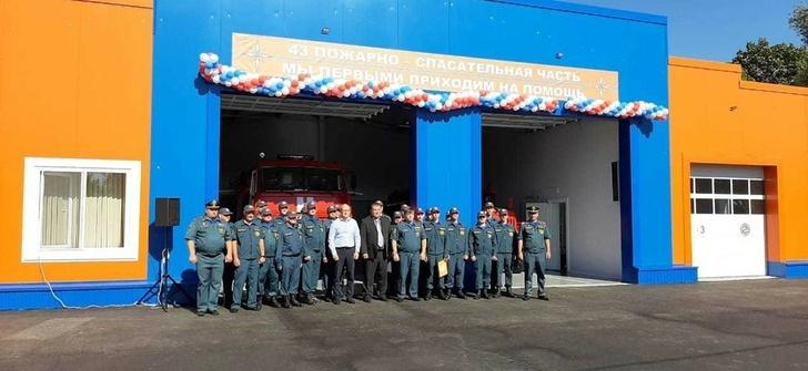 В Грайворонском округе открыли новую пожарно-спасательную часть. Фото пресс-службы МЧС Белгородской области