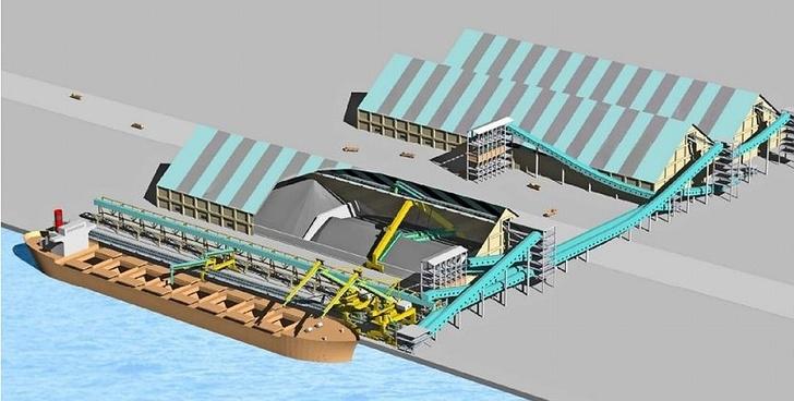 Угольный терминал: портальный реклаймер. Фото: Шаде Лагертехник ГмбХ