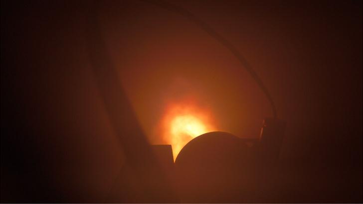 Работа ЖРД в бронекамере 13 ноября 2018 г.