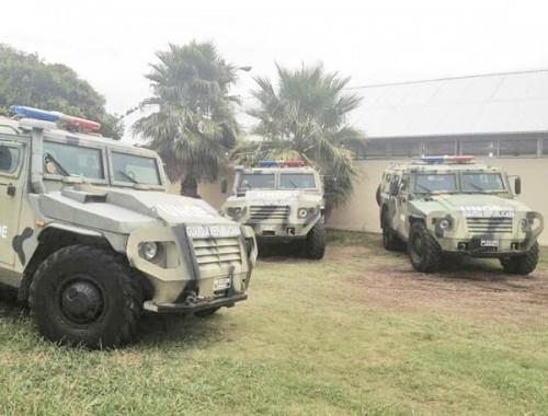 Бронеавтомобили 'Тигр' национальной гвардии Уругвая