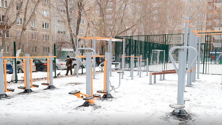 В Центральном районе Челябинска появились новые спортивные площадки