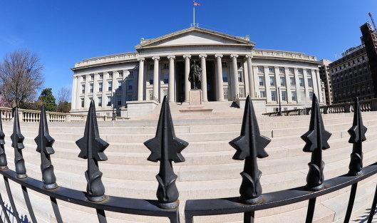 # Здание министерства финансов США в Вашингтоне