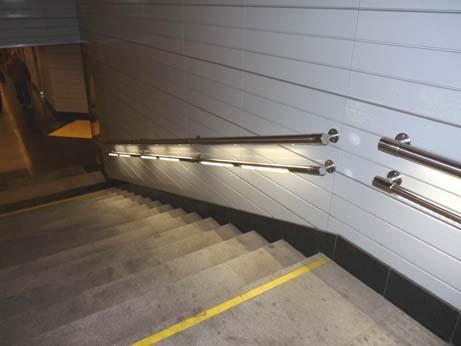 поручни из нержавеющей стали с подсветкой