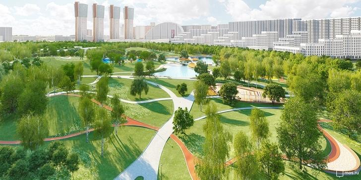 Роллердром и яблоневая аллея: каким станет парк на Ходынском поле
