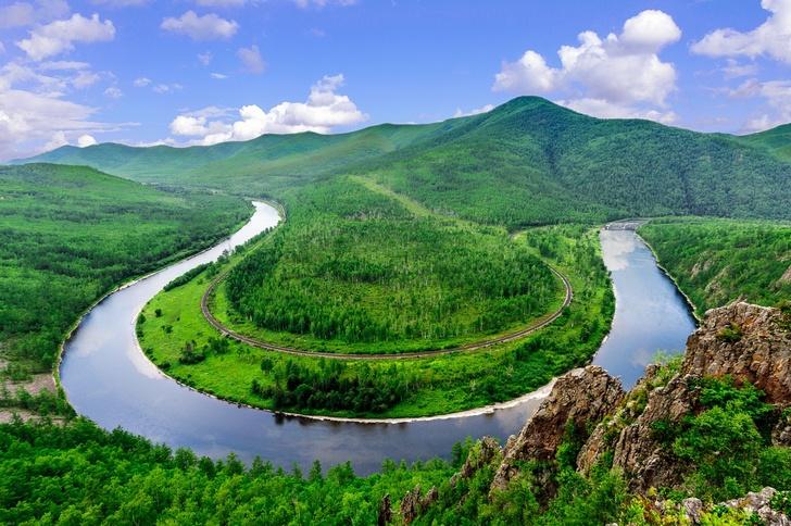Меандр реки Гур