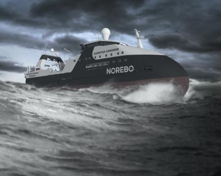 На Северной верфи началась подготовка к спуску на воду траулера «Капитан Соколов»