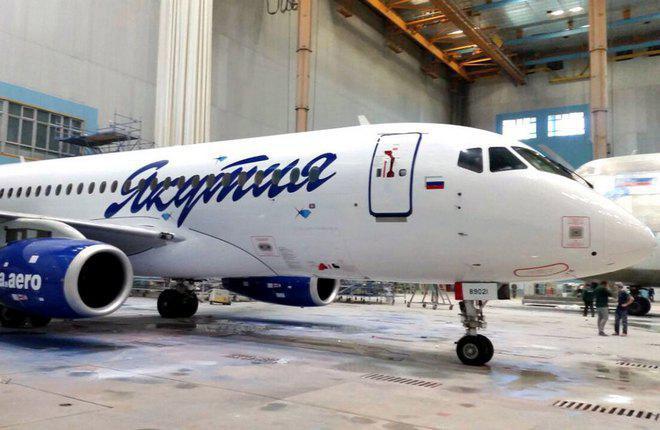 """Sukhoi Superjet 100 авиакомпании """"Якутия"""""""