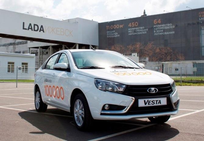 «ЛАДА Ижевск» выпустил 100-тысячный седан LADA Vesta