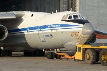 ЗАВЕРШИЛАСЬ ПОКРАСКА ПЕРВОГО СЕРИЙНОГО ТРАНСПОРТНОГО САМОЛЕТА Ил-76МД-90А