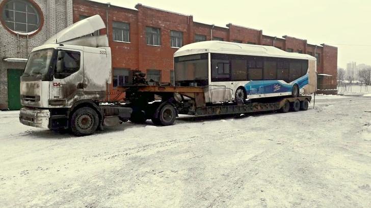 В Санкт-Петербург прибыли первые автобусы «Волгабас» с электродвигателями