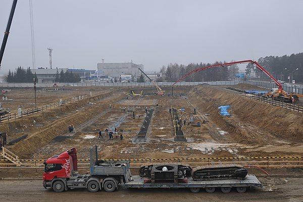 """Строительство терминала в """"Емельяново""""Фото пресс-службы аэропорта """"Емельяново"""""""