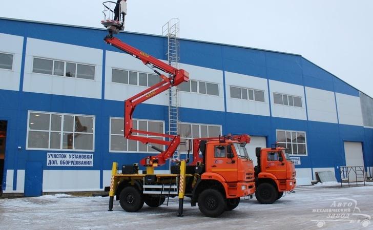 «Автомеханический завод» смонтировал и отгрузил 1-ю партию автогидроподъёмников для ПАО «Роснефть»