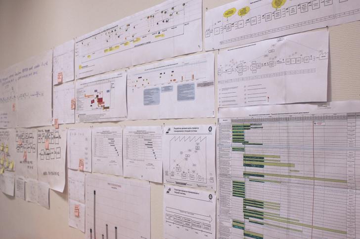 Для визуализации создаются различные план-графики отражающие состояния этапов реализации проекта, выявленные проблемы, разработанные документы и другое.