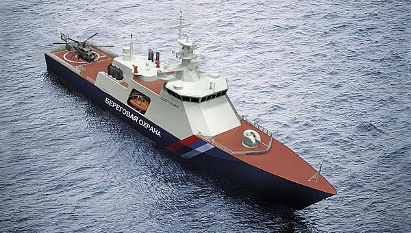 """Головной пограничный сторожевой корабль проекта 22100 """"Океан"""" будет спущен на воду 21 мая"""