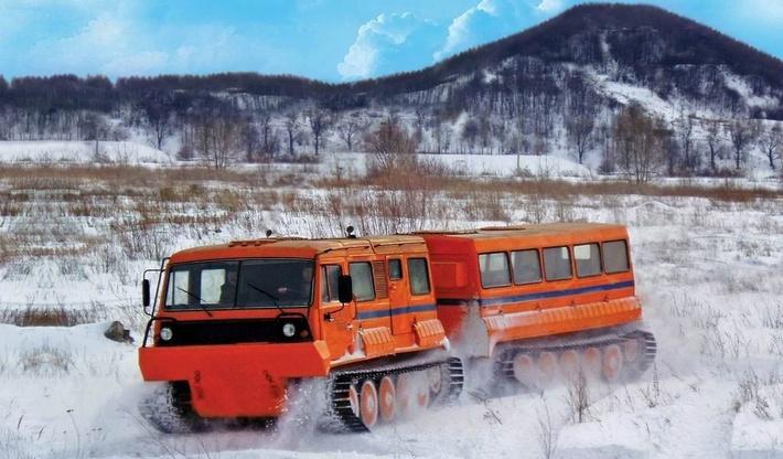 Двухзвенный гусеничный плавающий снегоболотоход ТТМ-4902 ПС-10