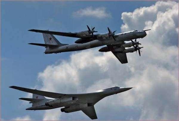 Стратегические ракетоносцы Ту-95 и Ту-160