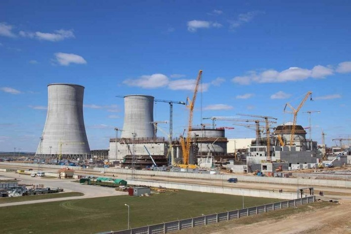 На БелАЭС забетонировали купол первого энергоблока