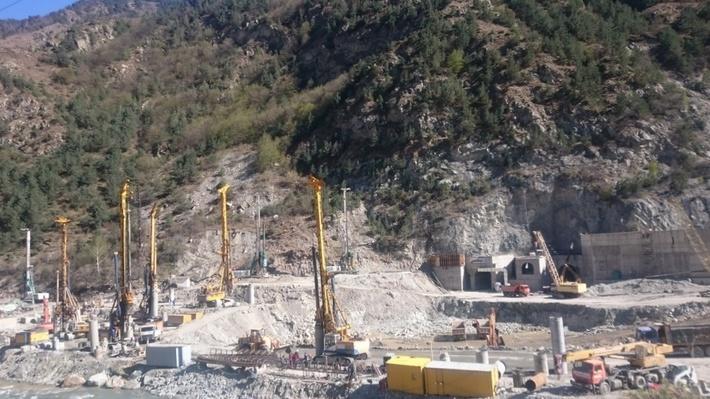 На Зарамагской ГЭС-1 в РСО-Алании приступили к строительству здания гидроэлектростанции