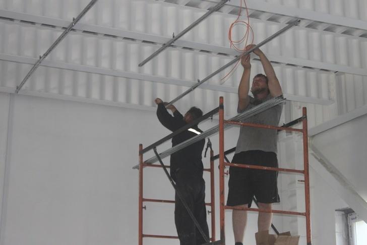 Во время проведения ремонтных работ