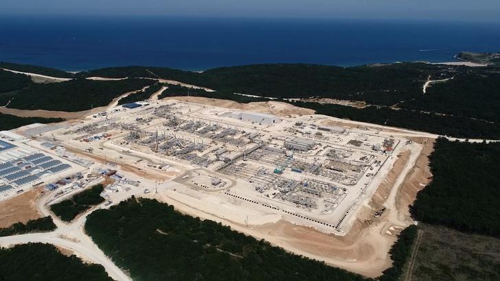 приемный терминал для газопровода «Турецкий поток» в Турции