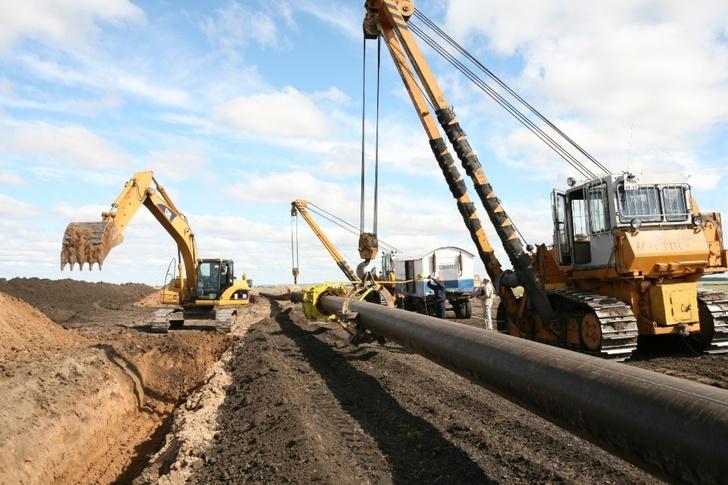 Строительство межпоселкового газопровода