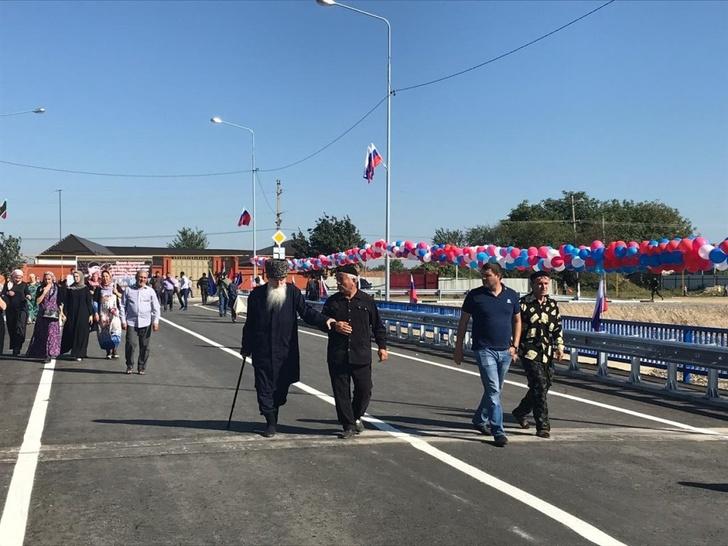 Новый мост через реку Нетхой открыли в Чечне