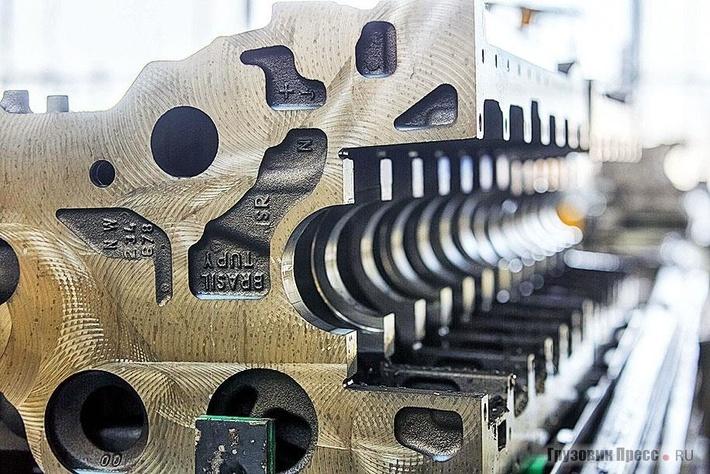 Отливка блока цилиндров 9-литрового двигателя поступает изБразилии