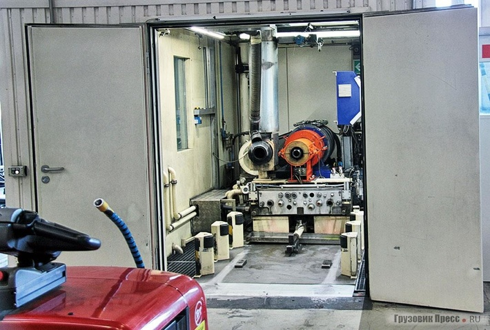 Быстроразъёмное соединение двигателя сиспытательным стендом
