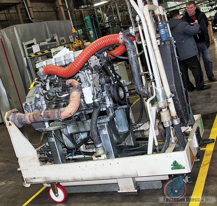 Участок тестирования: здесь проводятся испытания двигателя настендах AVL (Австрия)