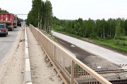Одна из объездных дорог (справа)