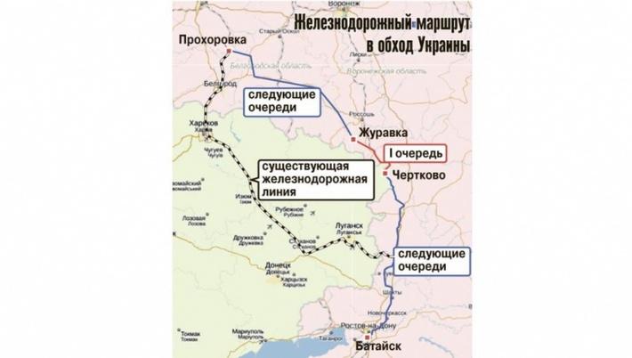 Железнодорожный маршрут в обход Украины