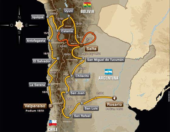 Аргентина, Боливия, Чили. В шестой раз ралли принимает Южная Америка