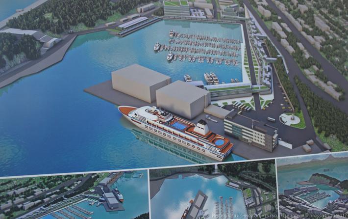 Рендер проекта морского вокзала. Общий вид