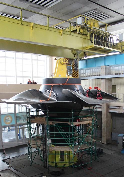 Саратовская ГЭС - сборка рабочего колеса ГА-4