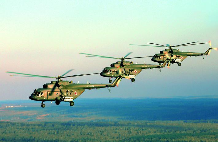 Минобороны России получило 100 из 140 вертолетов Ми-8МТВ-5
