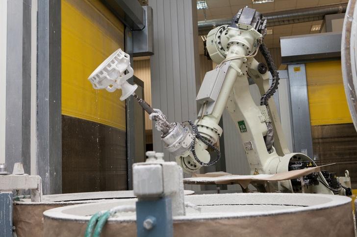 Роботизированный участок изготовления литейных форм