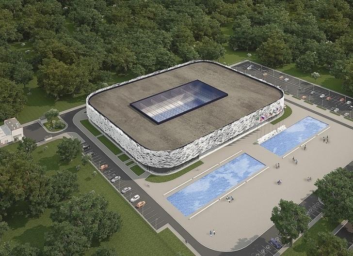 В Крыму начали строить дворец водных видов спорта стоимостью ₽1 млрд