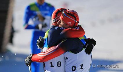Российские лыжники выиграли эстафету на Универсиаде в Словакии