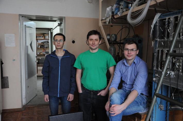 (слева направо) Алексей Петрожицкий, Александр Попов, Евгений Козырев