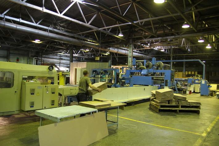 Производство гофрированного листа на Селенгинском ЦКК. Фото с официального сайта компании.