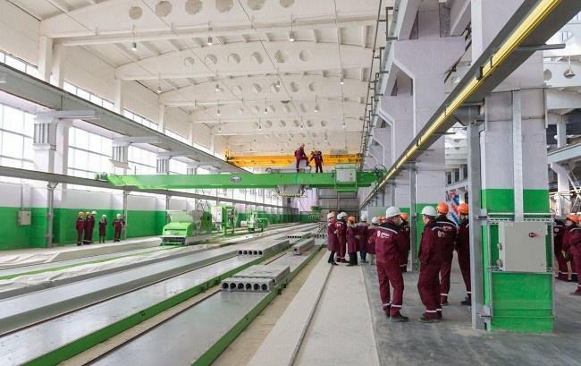 первые производственные линии запущены в сентябре 2014 г.