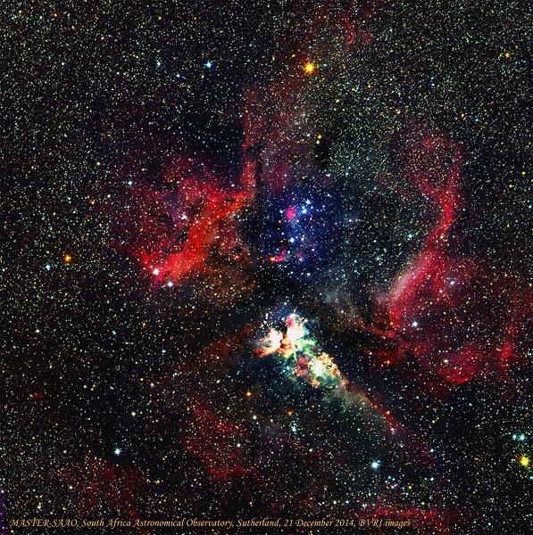 первые снимки телескопа: туманность в созвездии Киля — CarinaNebula