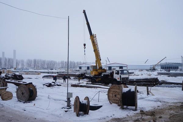 строящейся комплекс компании «Мираторг» по доращиванию молодняка КРС январь 2017 г.