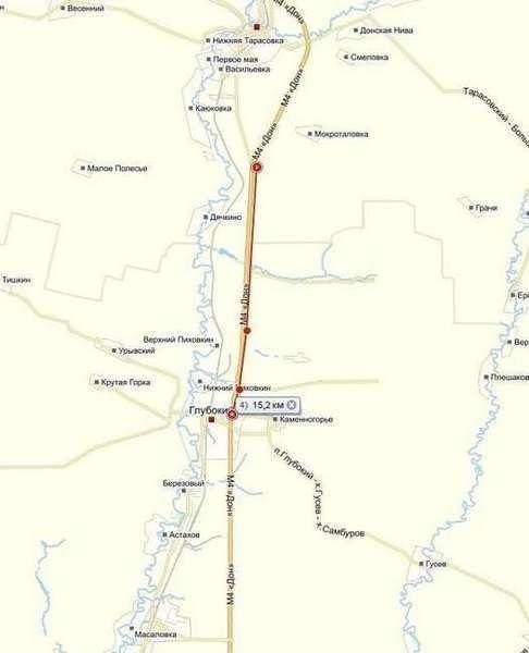 схема открытого участка автомагистрали