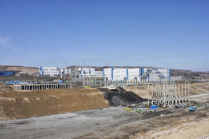 строительство горнообогатительного комбината (2014 год)