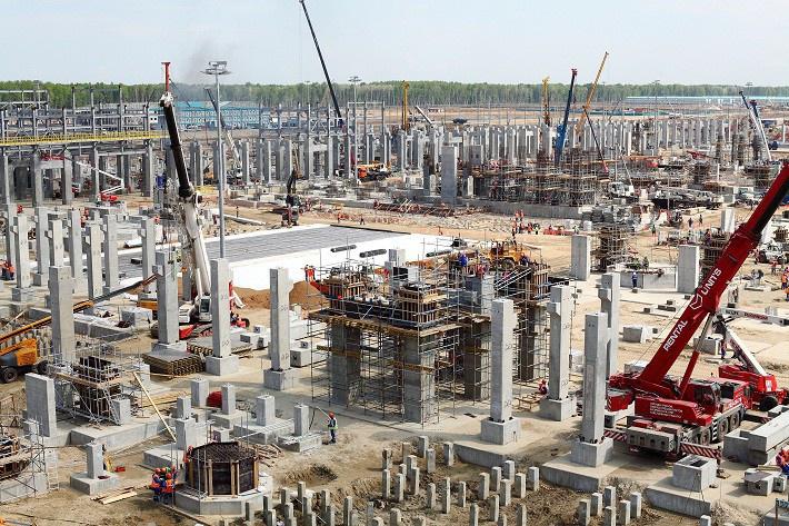 Строительство установки пиролиза май 2016 г.