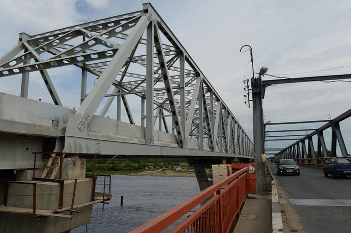 Схема моста 22,16+3×71,6+22,16