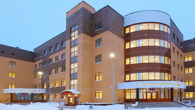 Новая поликлиника, построенная на месте снесенной столетней, начала работу  в г. Павловский-Посад Московской области. 554d079e148