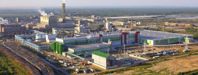 панорама нового бумажного производства в Коряжме